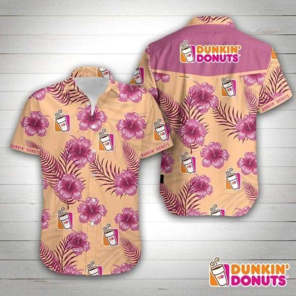 Dunkin Donuts Hawaiian Shirt