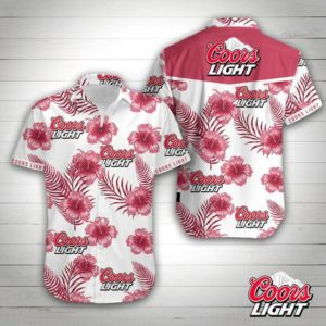 Coors Light Hawaiian Shirt