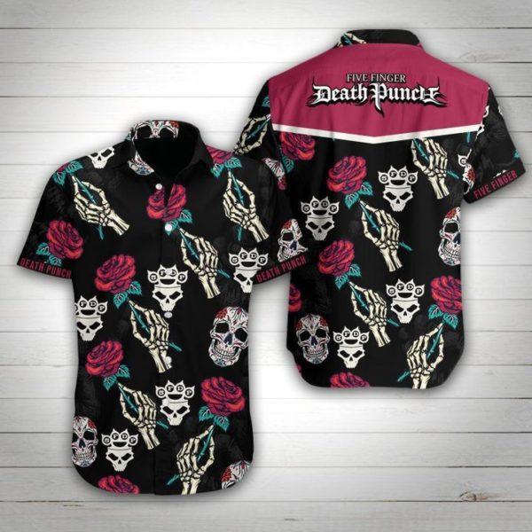 Five Finger Death Punch Hawaiian Shirt