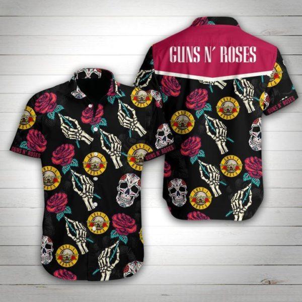 Guns N' Roses Skull Hawaiian Shirt