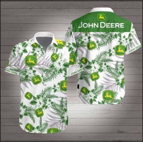 John Deere Hawaiian 3d Shirt