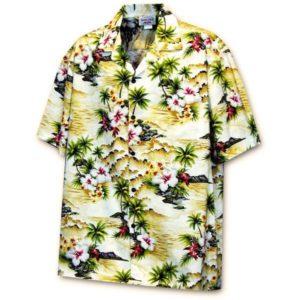 Diamond Head Beach Maize Hawaiian Shirt