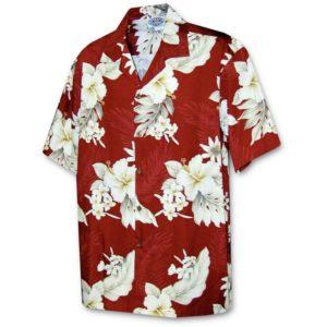 Floral Garden Red Hawaiian Shirt