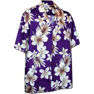 Tropic Fever Purple Hawaiian Shirt