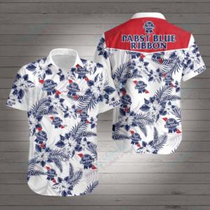 Pabst Blue Ribbon Hawaiian Shirt