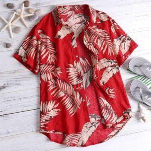 2020 Hot Tropical Leaf Vintage Hawaiian Shirts 100 Cotton