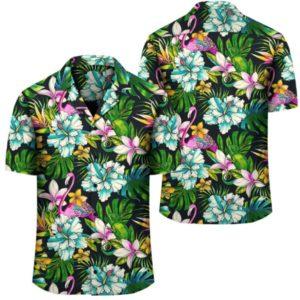 Animals And Tropical Flowers Hawaiian Shirt