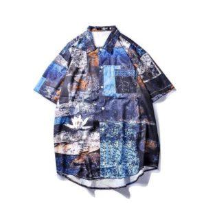 Gettyshirt  Mens Beach Hawaiian Shirt Tropical Summer