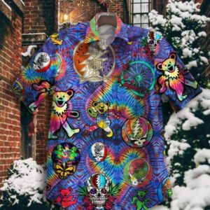 Gettyshirt Tropical Vintage Grateful Dead Cotton Mens Hawaiian Shirt