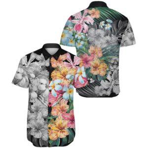 Hawaii Forest Tropical Flower Short Sleeve Shirt