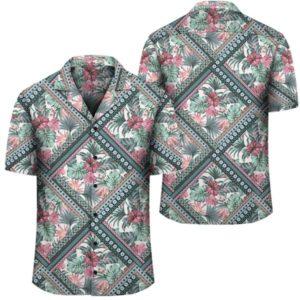 Hawaii Exotic Tropical Flowers In Pastel Colors Hawaiian Shirt