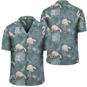 Hawaii Tropical Flamingos And Tropical Plants Hawaiian Shirt