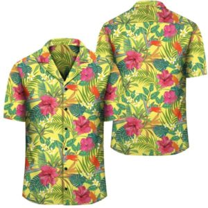Hawaii Tropical Leaves And Flowers Hawaiian Shirt