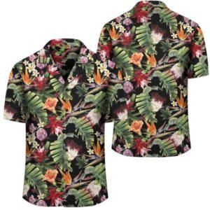 Hawaii Tropical Flowers Watercolor Hawaiian Shirt