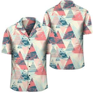 Hawaii Tropical Leaf Triangle Pattern Hawaiian Shirt