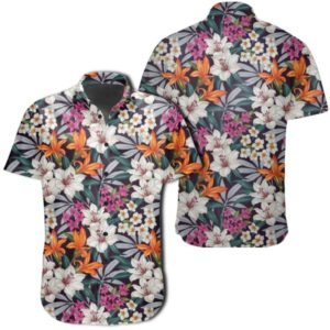 Parrot Toucans Hummingbird Flamingo Tropical Leaves Hawaiian Shirt