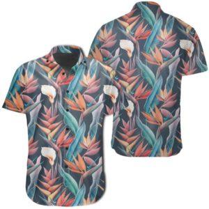 Seamless Tropical Flower Hawaiian Shirt