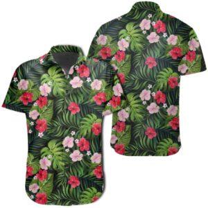Tropical Flower Mix Hawaiian Shirt