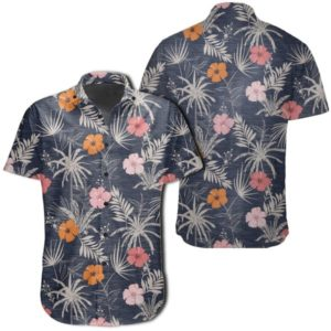 Tropical Grey Hawaiian Shirt