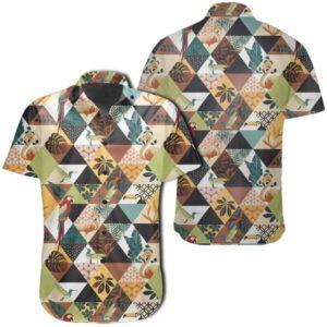 Tropical Jungle Parrots And Flamingos Pattern Hawaiian Shirt