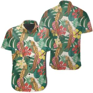 Tropical Leaves Flowers And Birds Floral Jungle Hawaiian Shirt