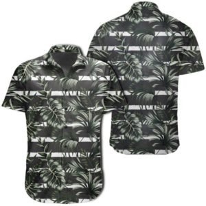 Tropical Line Patttern Hawaiian Shirt