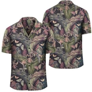 Palm Leaves, Tropical Flowers Hawaiian Shirt