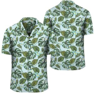 Tropical Flowers Monstera Leaf Hawaiian Shirt