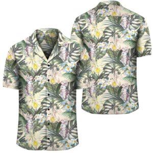 Tropical Jungle Parrots And Flamingos Hawaiian Shirt