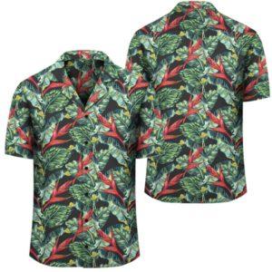 Tropical Monstera Leaf Green Mix Hawaiian Shirt