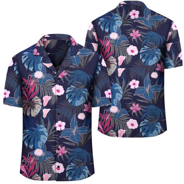 Tropical Palm Tree And Flower Hawaiian Shirt