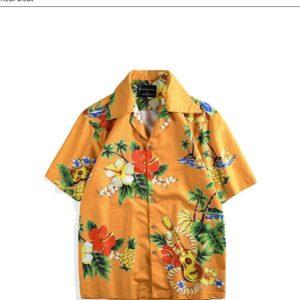 Flowers Print Hawaiian Shirt Casual Beach Summer Shirt For Men