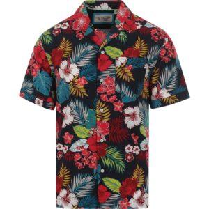 Original Penguin Retro 70s Floral Hawaiian Shirt