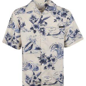 Prada Graphic Print Hawaiian Flowers Shirt