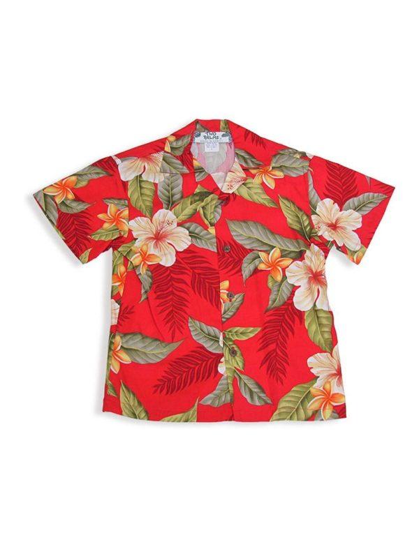 Rayon Hawaiian Flowers Shirt 107r