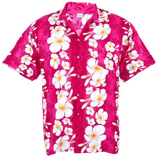 Hibiscus Pink Hawaiian Shirt Australia Cotton
