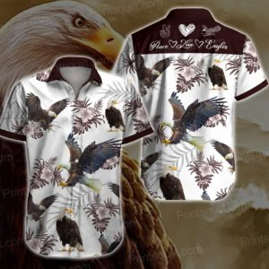 Elegant Eagles Hawaiian Shirt