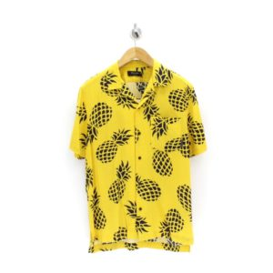 Religion Pineapple Coast Yellow 80s Hawaiian Shirt