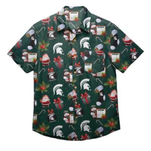 Michigan Sate Spartans Ncaa Christmas Explosion Men'S Hawaiian Shirt