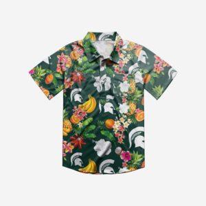 Michigan Sate Spartans Ncaa Fruits Flair Men'S Hawaiian Shirt