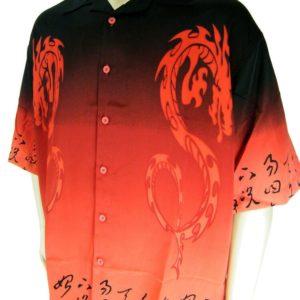 Fire Dragon Hawaiian Shirt