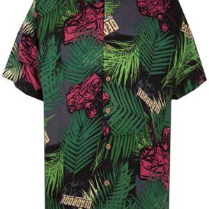 Marvel Deadpool Tropical Woven Hawaiian Shirt