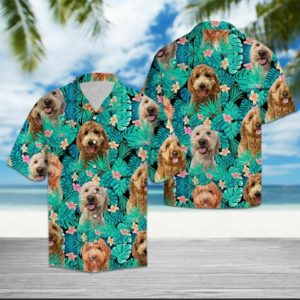 Goldendoodle Tropical - All Over Printed Hawaii Shirt