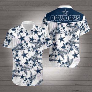 Dallas Cowboys Hibiscus Hawaiian Shirt
