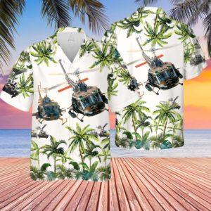 United States Army Huey Helicopter Hawaiian Shirt