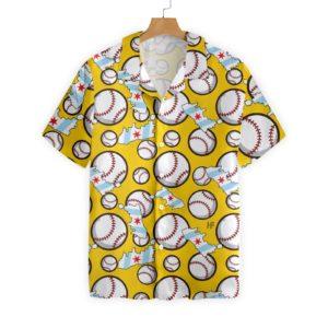 Baseball Chicago Flag Hawaiian Shirt